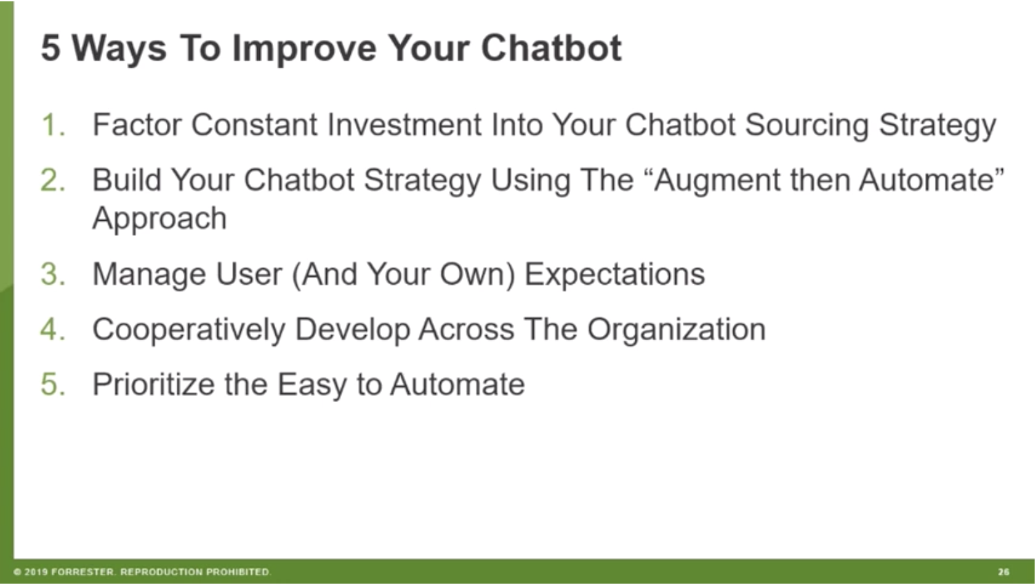 improve your chatbot